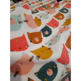 Jersey tete de chat multicolor 155cm