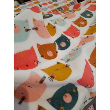 Jersey tete de chat multicolor 155cm