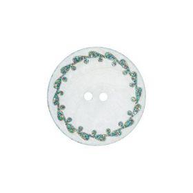 Boutons nacre river shell 15mm vert