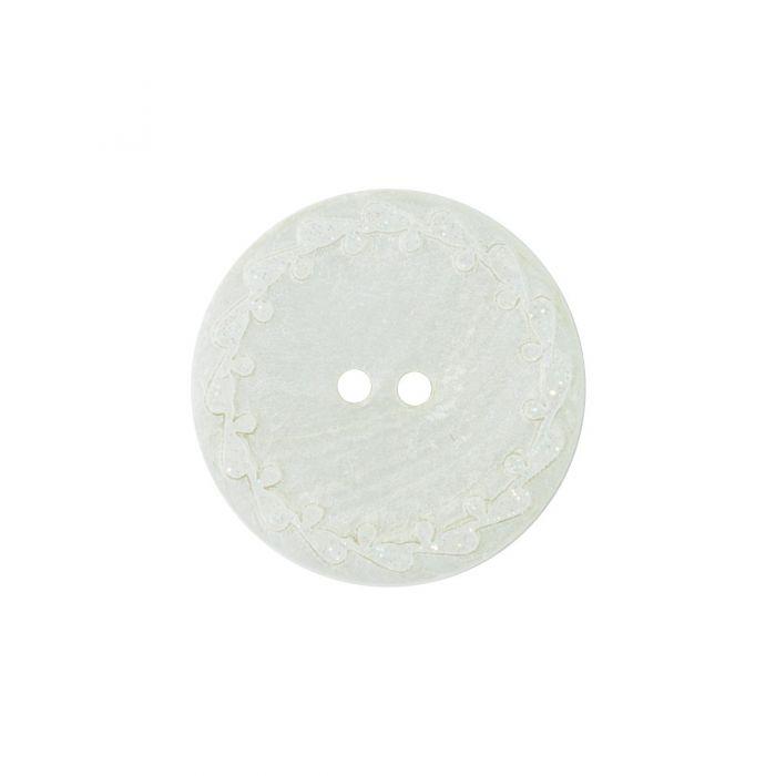 Bouton nacre river shell 15mm blanc