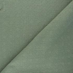 Double gaze gaufree  agnes kaki  brodée 100% co 130cm