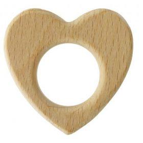 Anneau dentition coeur bois 70mm