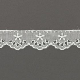 BRODERIE ANGLAISE BLANCHE 24MM 100%COTON