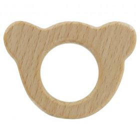 Anneau dentition ours bois