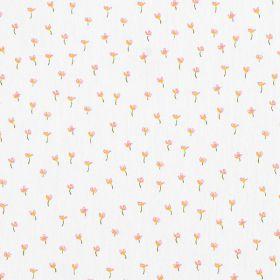Coton petite fleur fond blanc 150cm