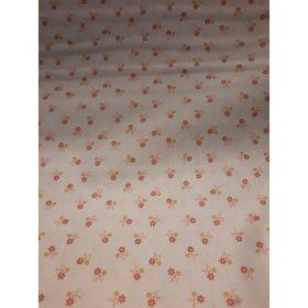 Coton fleur fond blanc 150cm 100%coton