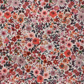 Fleur rose/corail 100%co oekotex140cm