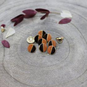 Bouton wink black chestnut 9mm