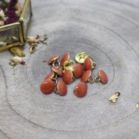 Bouton gem chestnut 9mm