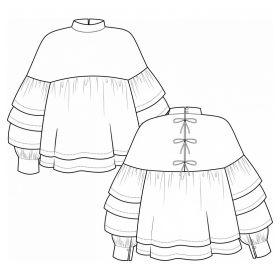 Patron blouse Coeli de Pauline Alice  34-48