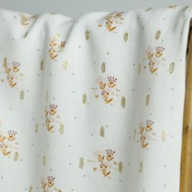 Viscose lurex ecrue fleurie 145cm