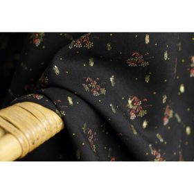 Viscose lurex noir fleurie 145cm