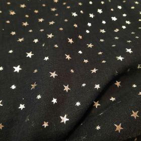 Double gazefoil print stars noir