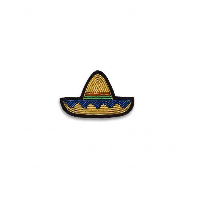 Broche mini sombrero doré macon et lesquoy