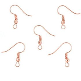 Crochet d'oreille rose