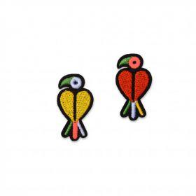 Ecusson mini perruches macon et lesquoy