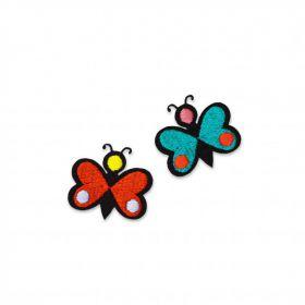 Ecusson mini papillons monarques macon et lesquoy