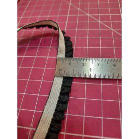 Ruche elastique noir 12mm