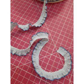 Ruche elastique bleu 13mm