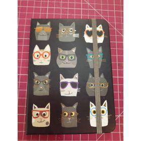 Carnet chat lunette