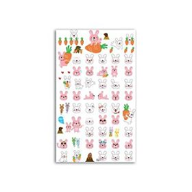 FUNNY STICKERS LAPINS POTAGER