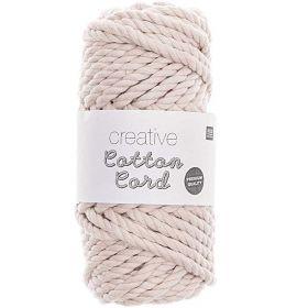 Corde skinny ecrue coton 55m