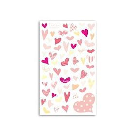 FUNNY STICKERS COEURS ROSE
