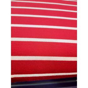 Marinière jersey rouge et blanc 68vi 32pe 280g/m 160cm