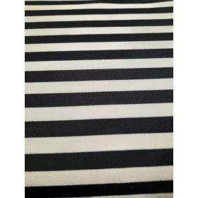 Marinière jersey noir et blanc 68vi 32pe 280g/m 160cm