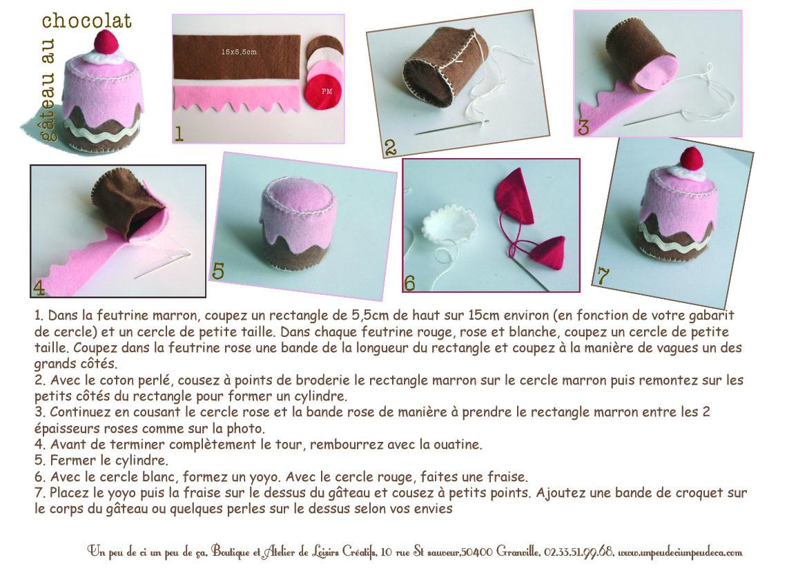 Guide Gâteau en Feutrine