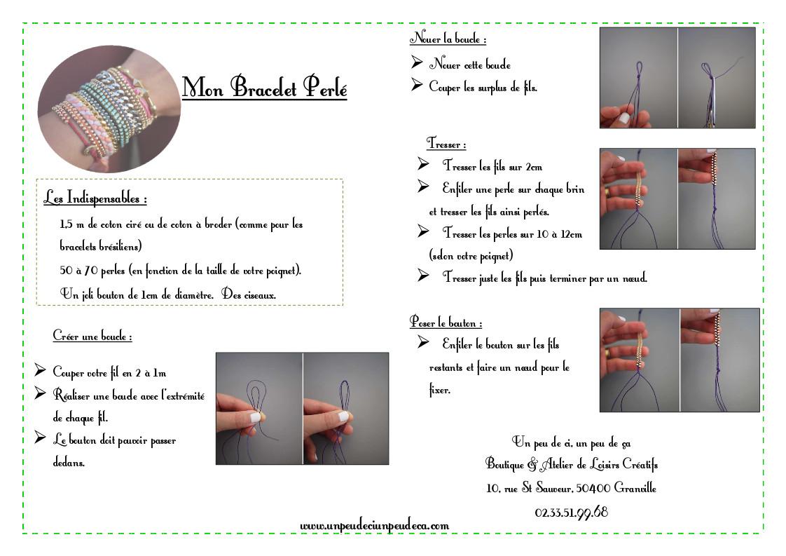 Tutoriel Bracelet Perlé
